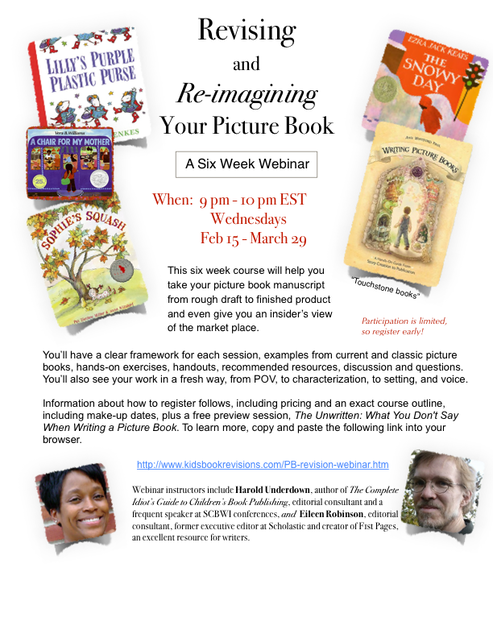 Revising and Re-Imagining Your Picture Book with correct link